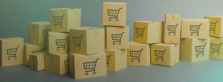 Stack of boxes meant to represent eCommerce shop